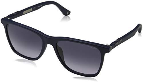 Police Herren ORIGINS 1 Sonnenbrille, Blau (Semi Matt Blue/Grey), 56.0