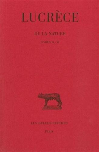 De la Nature, tome 2, livres IV-VI par Lucrèce