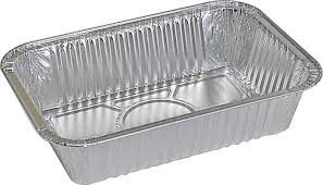 Blue Aluminium Foil Containers with Lid, 750ml, Silver (Pack of 50)
