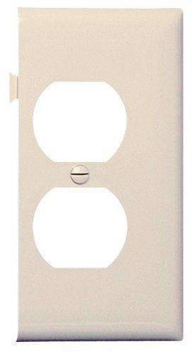 Legrand-Pass & Seymour PJSE8LA Sectional Thermoplastic Wall Plate Junior Jumbo Duplex End Section, Light, Almond by Legrand-Pass & - Light Plate Wall Almond