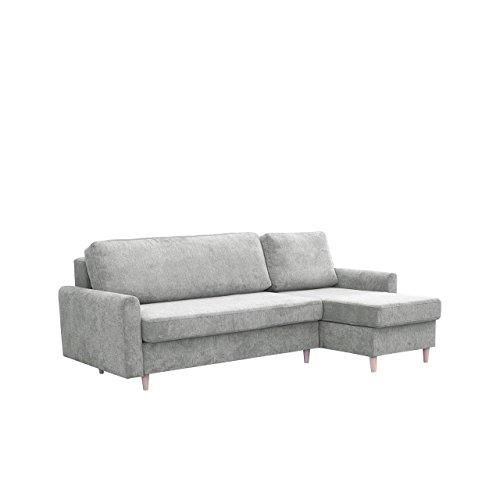 Mirjan24  Ecksofa Benon Eckcouch Schlaffunktion Bettkasten Couch L-Form Sofa Design Bettfunktion Wohnlandschaft (Alfa 17, Ecksofa: Rechts)
