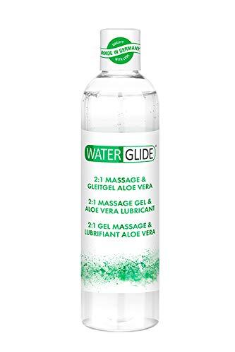 2:1 Massage- & Gleitgel Waterglide, Wasserbasis, pflegend mit Aloe Vera Extrakt, 300 ml