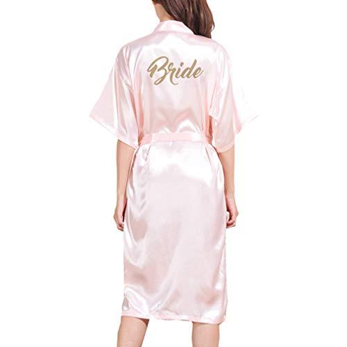 Yying Kimono Bata Novia Dama Honor Largos