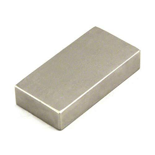 Magnetastico | High-Performance Neodym Magnet Quader N52 50x25x10 mm | Extra starker N52 Neodym Permanentmagnet Rechteck | Über 80 kg Magnetkraft | Block-Magnet Supermagnet Haftmagnet Rechteckmagnet
