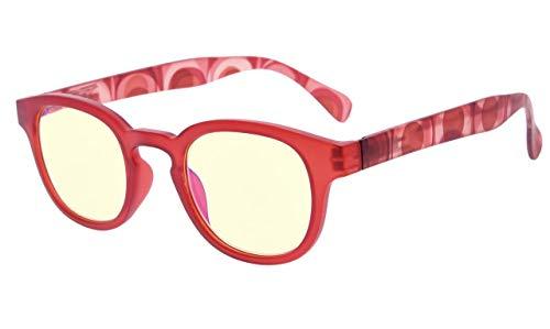 Eyekepper Lesebrille mit UV Schutz,Blendschutz,Antireflex Lesegeräte mit Gelb getönte Gläser+1.0