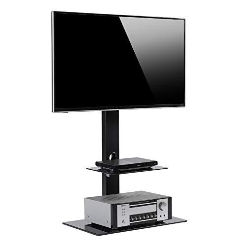 RFIVER Meuble TV avec Support Cantilever pour TVs et Ecrans LCD LED de 32 à 65 pouces Rangement de Télé AV Equipments pour Lieu de Divertissement TF2001