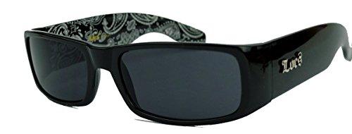 LOCS® Sonnenbrille Biker Brille für Herren West Coast Style MODELLWAHL LCV (Fat Frame/Bandana)