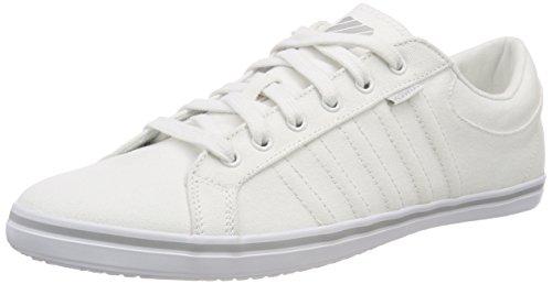 Iv-weiß Schuhe (K-Swiss Herren Hof IV T VNZ Sneaker, Weiß (White/Gull Gray/Whtie 148), 40 EU)