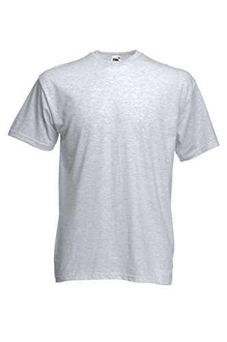 Fruit of the Loom 10 x Valueweight T-Shirt von FRUIT OF THE LOOM 61-036-0 Aschgrau