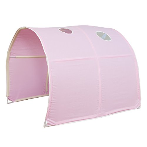Ghorbani Tunnel Bogen Zelt Bettzelt Pink Bettdach Spieltunnel Höhle Hochbett Kinderbett