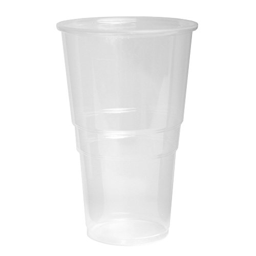 Unbekannt 1000 Stück Trinkbecher Becher 0,5 l transparent 500 ml mit Schaumrand Ausschankbecher Bierbecher Einwegbecher Partybecher