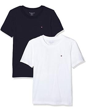 Tommy Hilfiger UB0UB90003, Camiseta para Niños, Pack de 2