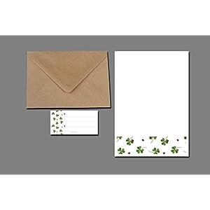 Briefpapier Set / Kleeblätter un