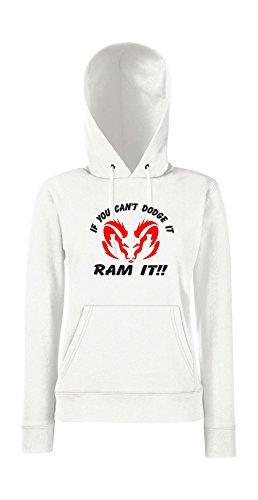 Kapuzenpullover für Frauen - If you cant Dodge in Ram it!!! Weiß