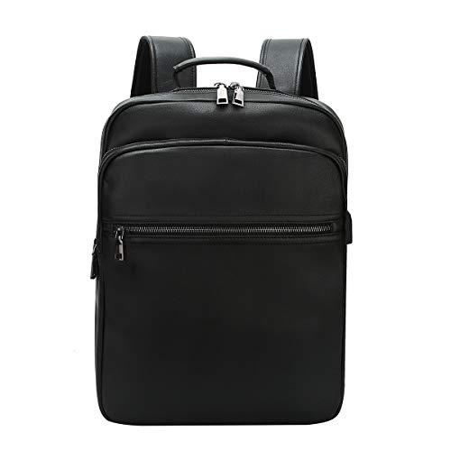 Leathario Zaino in Pelle Vera da Uomo Zaino Porta PC per Uso Quotidiano Lavoro Università Casual Viaggio Grande Capacità alla Moda Elegante
