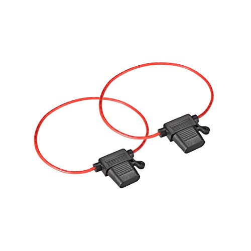 sourcing map 2 Stück Auto Sicherungshalter Inline 18 AWG Wasserdicht Schwarz für ATC/ATO Sicherung - Atc-inline-sicherungshalter