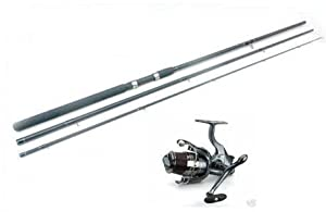 Shakespeare Match Omni Reel With Line & NGT 3pc Float rod 12ft With Cloth Bag by Shakespeare reel / Silstar rod