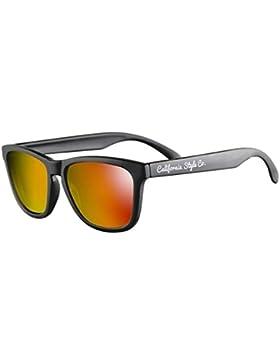 Gafas de sol California Style Co Venice Beach Naranja con montura en Negro