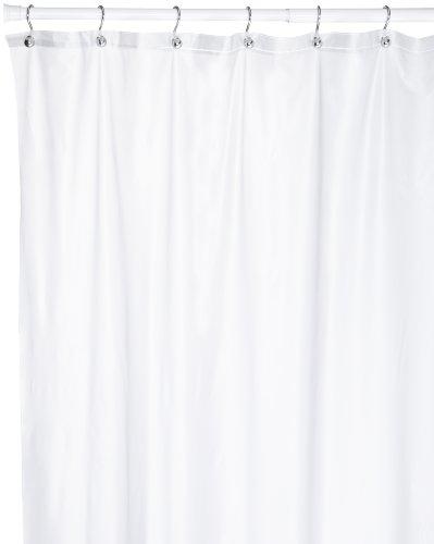Carnation Home Fashions 72lang, 274cm Breite extra breit Duschvorhang Vinyl Frost Clear