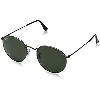 Ray-Ban Unisex Sonnenbrille Rb 3447, Grau (Gestell: Gunmetal, Gläser: Grün Klassisch 029), Medium (Herstellergröße: 50)