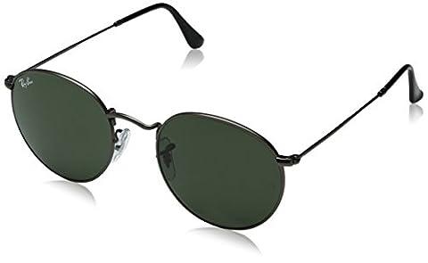 Ray Ban Unisex Sonnenbrille Round Metal, Gr. Medium (Herstellergröße: 50), Grau (Gestell: Gunmetal, Gläser: Grün Klassisch 029)