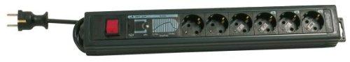 REV Supraguard 6-Fach PC-Steckdosenleiste schwarz