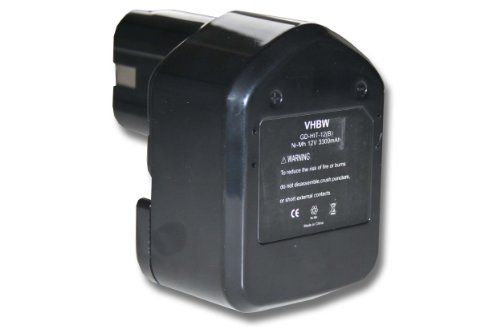 Vhbw batería Ni-MH 3300mAh 12V herramientas DS 12DVB2KS