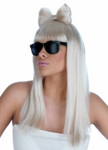 Perruque et lunettes style Lady Gaga