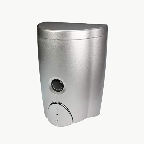 HOMEPLUZ Dispensador de Jabón de Pared Simply Silver (20oz / 600ml)