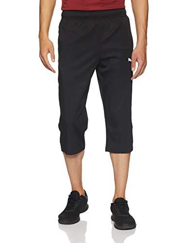 PUMA Herren Active Woven 3/4 Pants Hose, Black, L - Active Hose