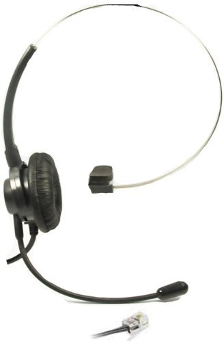Call Center Headset Kopfhörer Kopfhörer Kopfhörer + verstellbare Lautstärke + Stummschaltung für Polycom SoundPoint IP Phone Serie Modelle 300 301 430 500 501 550 600 601 650 IP-Telefon Voip-ear-clip