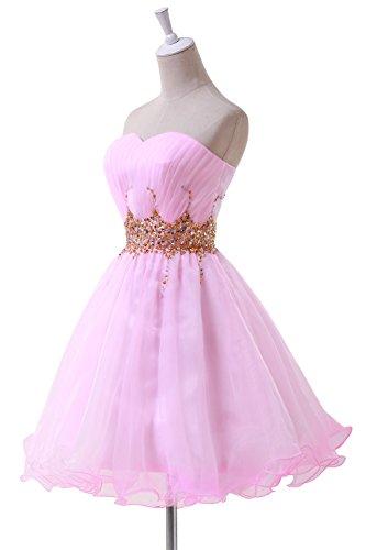 Bridal_Mall -  Vestito  - linea ad a - Senza maniche  - Donna Rosa