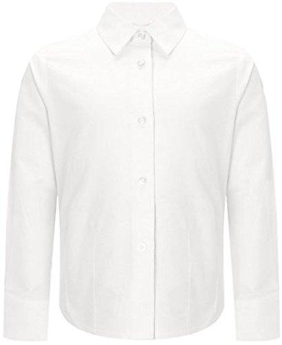 Uniforme da scuola, lavoro, ufficio, Formal Wear-Camicia a maniche lunghe, Bianco, 24 EU