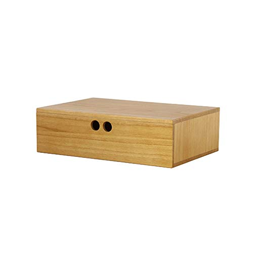 LI MING SHOP Volkskunst Aus Holz Schmuck Aufbewahrungsbox Display Pad Erhöhten Schreibtisch Oberfläche Kombination Box Box Schublade (Color : Light tea brown, Size : 23.2x36x10.5cm) -
