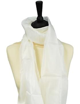Pebeo - Chal (45 x 180 cm, seda), color blanco