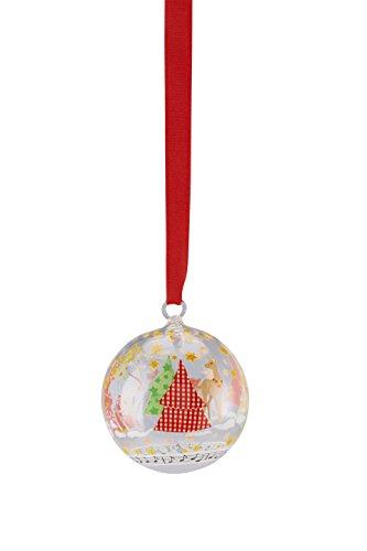 Hutschenreuther Sammelserie Weihnachtslieder-O Tannenbaum Glaskugel, Glas, Bunt, 7 x 7 x 9 cm