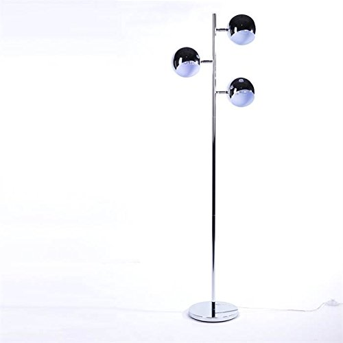 DESIGNER LOUNGE 3 KUGEL STEHLAMPE RETRO CLUB 150cm METALL Retro Leuchte Standlampe silber