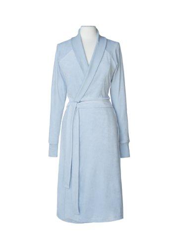 Nine Space Luxurious Organic Cotton Velour Bathrobe, Large/X-Large, Blue
