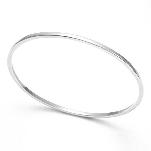 Sterling Silber massiv Armreif-quadratisch Abschnitt Armreif-Größe: 2,3mm x 72mm (68mm interne measaurement). In Geschenkverpackung 3038 -