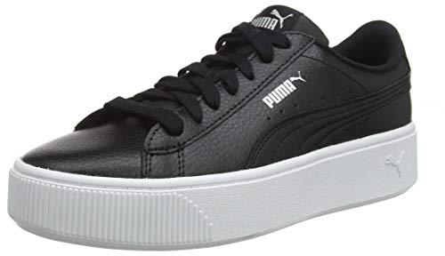 Puma vikky stacked l, scarpe da ginnastica basse donna, nero (puma black-puma black), 38 eu