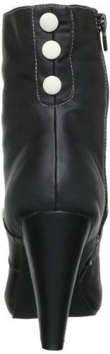 TUK Sweet Jane, Boots femme Noir (Black Cream Buttons)