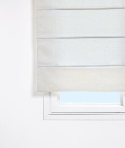 Stor planet - tenda pieghevole con asticelle 120x250 cm bianco
