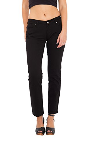 Way of Glory 5-Pocket-Jeans »Britney«, regular fit & straight leg aus Baumwoll Twill Britney Damen Regular Fit Casualmode 1001273 (Baumwoll-twill-jeans)