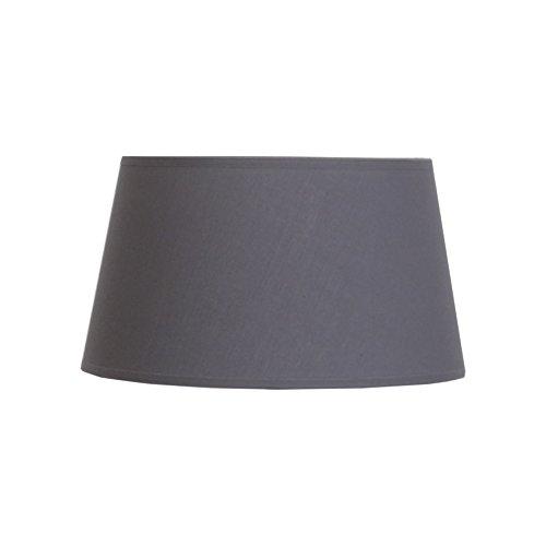 Abat-jour du Moulin CTBTTKAZA301G Abat-jour lampe KAZA Ø30 en Polycoton coloris Gris bague E27 Fabriqué en FRANCE Texture/Structure métalique époxy Blanc