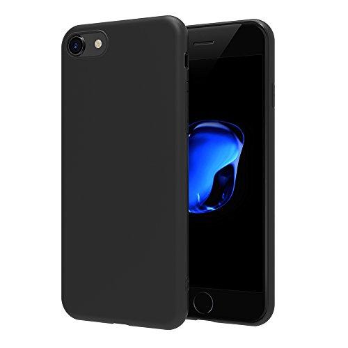 Cover per iPhone 7 / iPhone 8, AICEK Cover iPhone 7 Nero Silicone Case Molle di TPU Sottile Custodia per iPhone 7 / iPhone 8