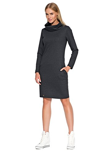 Makadamia - Robe - Pull - Manches Longues - Femme gris graphite Graphite