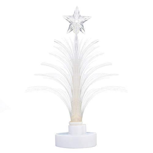 TianranRT Fröhlich LED Farbe Ändern Mini Weihnachten Weihnachten Baum Zuhause Tisch Party Dekor Amulett (Weiß)