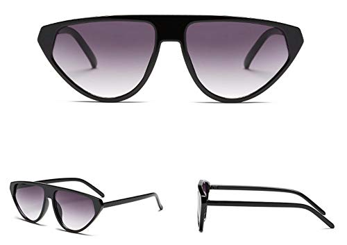 WSKPE Sonnenbrille Piloten Sonnenbrille Flache Steigung Streulichtblenden Brillen Unisex Gläser Uv 400 Schwarzen Rahmen Doppelter Grauer Linse