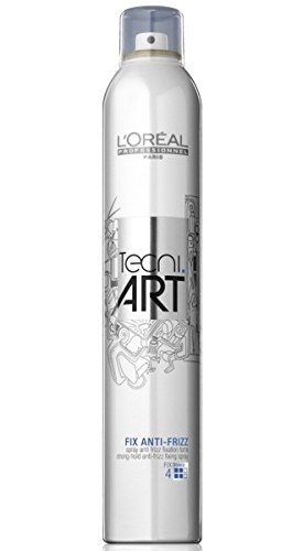 Loreal Fix Anti-Frizz 1 x 400 ml starker Halt Tecni.art Styling Haarspray Neue Serie -