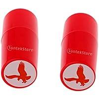 F Fityle 2 Unidades Colorfast Sello de Pelota de Golf de Secado Rápido Stamper Marker Impression Seal Eagle